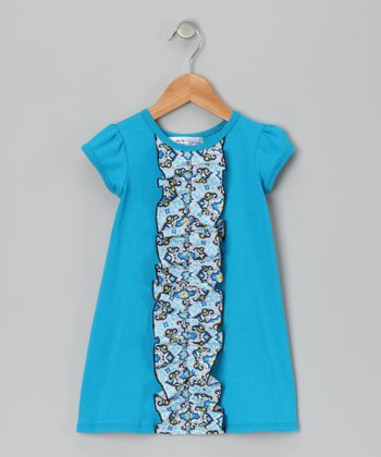 Blue Kylee Dress - Infant, Toddler & Girls