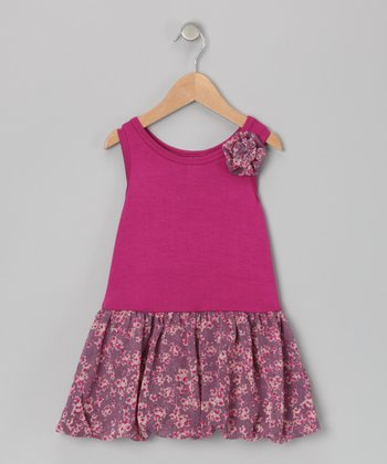 Berry Bubble Liza Dress - Toddler & Girls