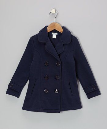 Navy Peacoat - Toddler & Girls