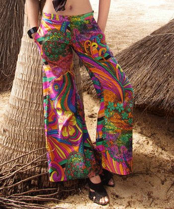 Purple & Green Palazzo Pants
