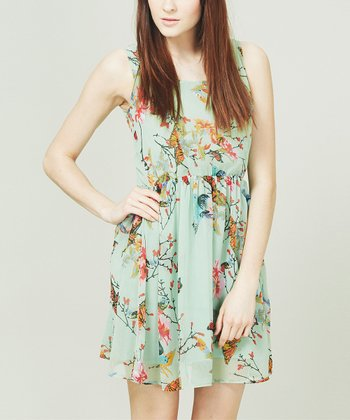 Green Botanical Garden Dress