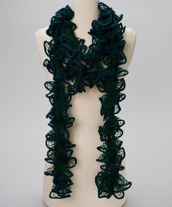 Green Net Tangle Scarf