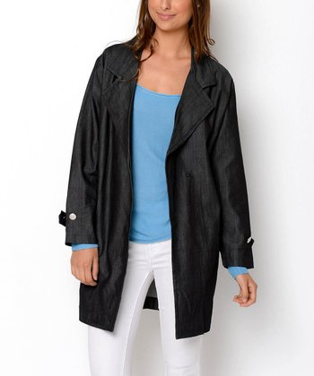 Denim Belted Organic Trench Coat
