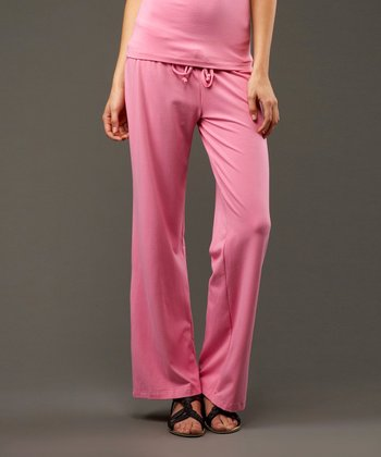 Dusty Rose Pink Drawstring Pants - Women