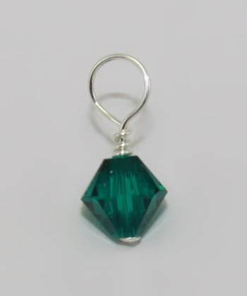 Dark Green May Birthstone Charm Made With SWAROVSKI ELEMENTS