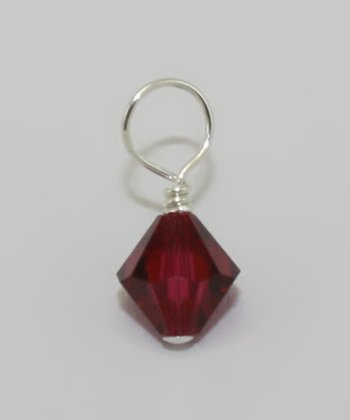 Swarovski Crystal & Sterling Silver July Birthstone Charm