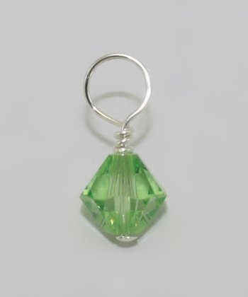 Light Green August Birthstone Charm Made With SWAROVSKI ELEMENTS