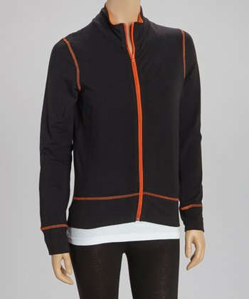 Black & Orange Track Jacket