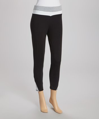 Black & Gray Capri Pants