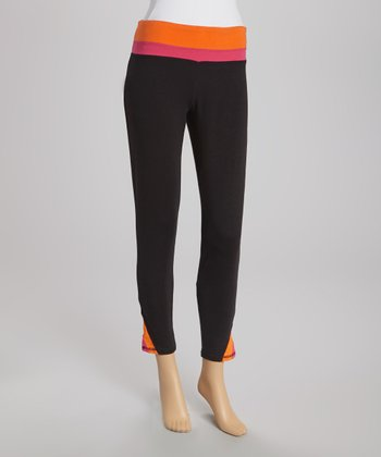 Black & Orange Capri Pants