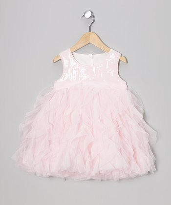 Pink Sequin & Tulle Dress - Girls