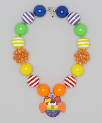 Rainbow Owl Charm Necklace