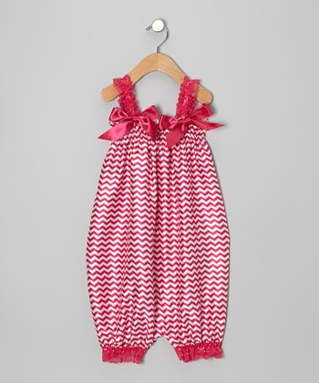 Strawberry Satin Romper - Infant, Toddler & Girls
