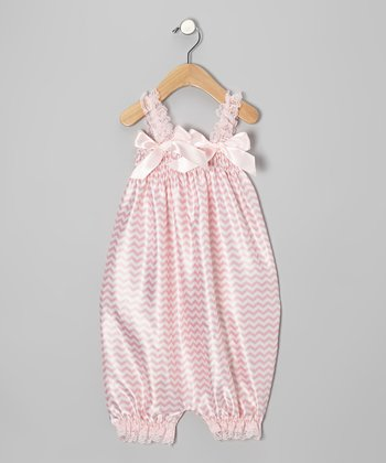 Bubblegum Satin Romper - Infant, Toddler & Girls