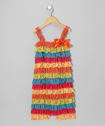 Rainbow Lace Ruffle Romper - Infant, Toddler & Girls