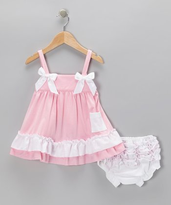 Light Pink Swing Dress & Bloomers - Infant & Toddler