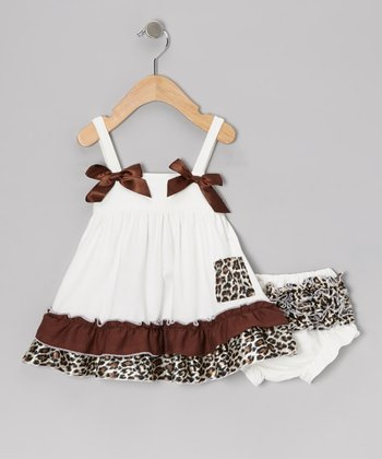 White Leopard Swing Dress & Bloomers - Infant & Toddler