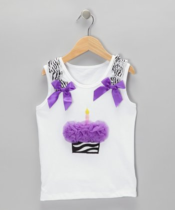 Purple Rosette Cupcake Tank - Infant, Toddler & Girls