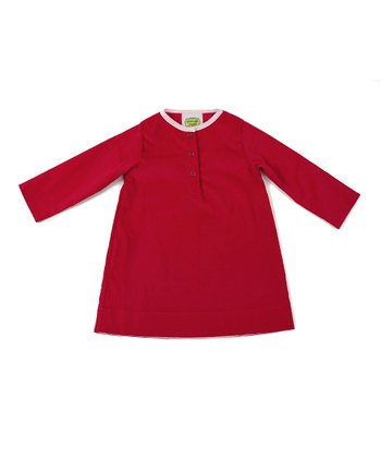 Raspberry Corduroy Tunic - Toddler & Girls