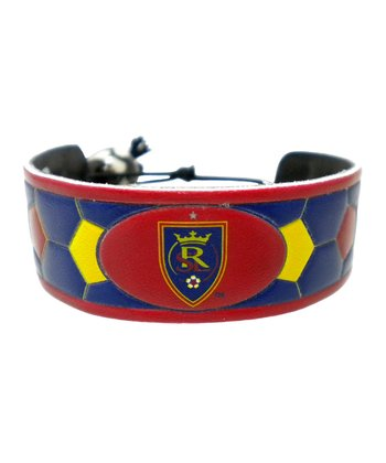 Real Salt Lake RSL Crest With Star Team Color Soccer Bracelet