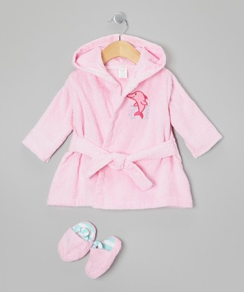 Pink Robe & Slippers