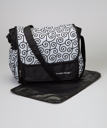 Black Small Diaper Bag & Changing Pad