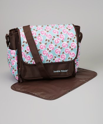 Brown Small Diaper Bag & Changing Pad