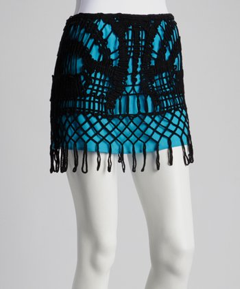 Black Macramé Skirt