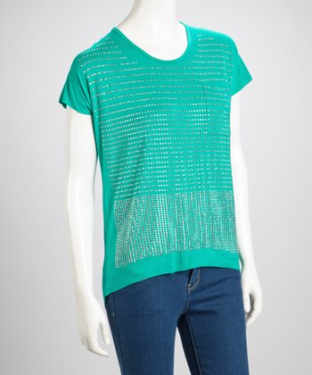 Green Studded Top