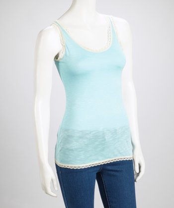 Sky Lace-Trim Top