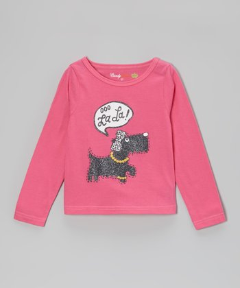 Carmine Rose 'Ooo La La' Dog Long-Sleeve Tee - Toddler