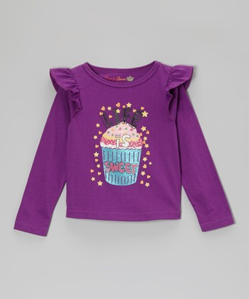 Grape 'Life Is Sweet' Long-Sleeve Tee - Toddler