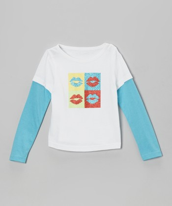 White Lips Layered Tee - Infant, Toddler & Girls