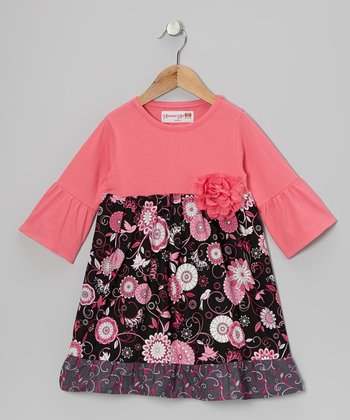 Pink Bright Bloom Dress - Toddler & Girls