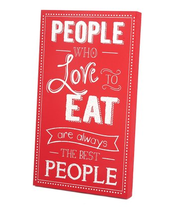 Red & White 'The Best People' Wall Art