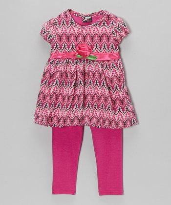 Pink Rosette Tunic & Leggings - Infant