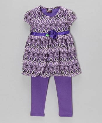 Purple Rosette Tunic & Leggings - Infant