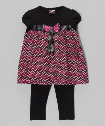 Pink Bow Tunic & Leggings - Infant, Toddler & Girls