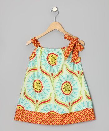 Orange Pop Daisy Swing Dress - Infant & Toddler
