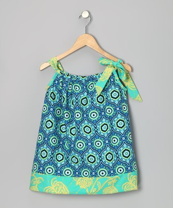Ocean Arabesque Tie Dress - Infant, Toddler & Girls