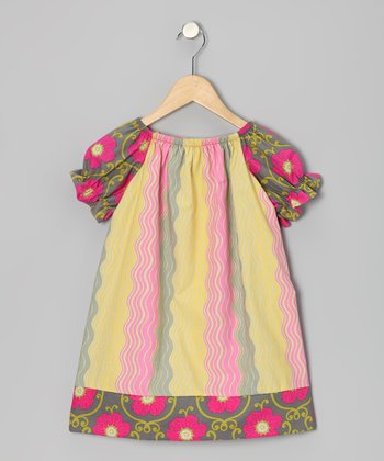 Rose Ripple Peasant Dress - Toddler