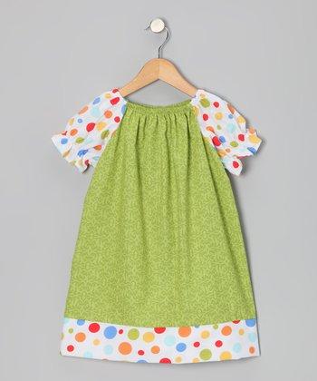 Green Lattice Peasant Dress - Infant, Toddler & Girls
