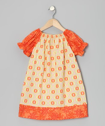 Orange Sun Peasant Dress - Infant & Toddler