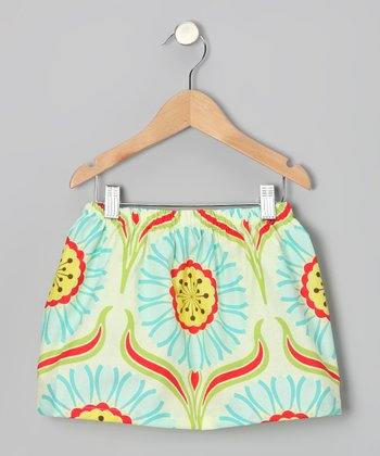 Orange Pop Daisy Skirt - Toddler