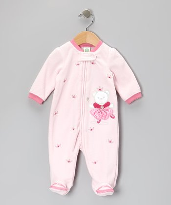 Light Pink Princess Bear Footie - Infant