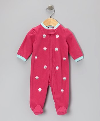 Pink Cupcake Footie - Infant