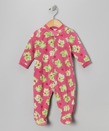 Pink Frog Footie - Infant