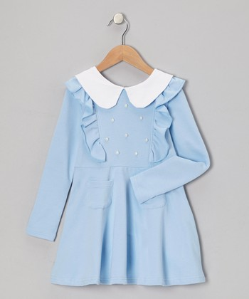 Light Blue Collared Dress - Toddler & Girls