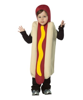 Yellow & Red Hot Dog Dress-Up Outfit - Kids