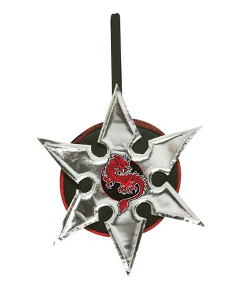Gray & Red Ninja Star Wristlet